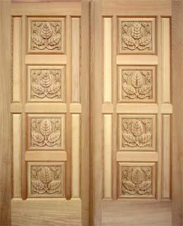 木製彫刻ドア